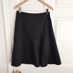 Odile Anthropologie Black A line Skirt Size 6